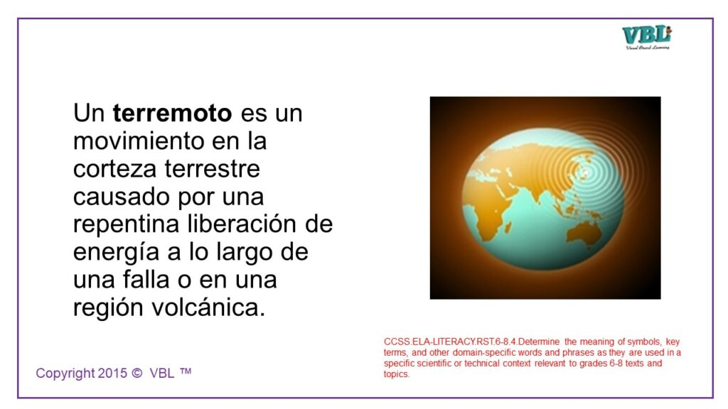 Earth Science Spanish 4
