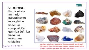 Rock and Minerals Spanish